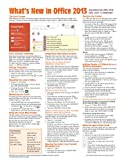 What's New in Microsoft Office 2013 (from 2010) Quick Reference Guide (Cheat Sheet of New Features and Instructions), Beezix Inc., 1936220709
