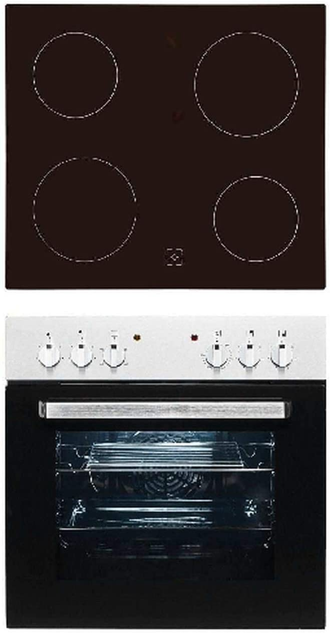 XEHE 50155-1.1 - Juego de fogones empotrables (acero inoxidable, vitrocerámica sin marco): Amazon.es: Grandes electrodomésticos