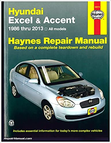 H43015 Hyundai Excel Accent 1986-2013 Haynes Auto Repair Service Manual: Manufacturer: Amazon.com: Books
