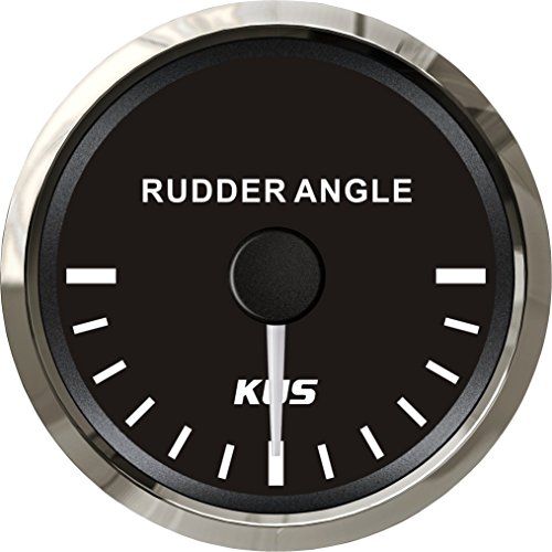 (KUS Waterproof Rudder Angle Indicator Gauge with Rudder Sensor 52mm (2