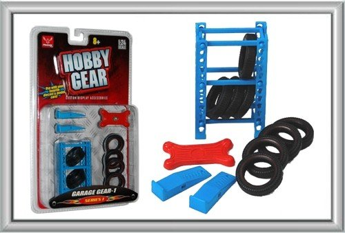 Hobby Gear - 1:24 Scale Garage Tire Rack Toy Model Set from Hobby Gear