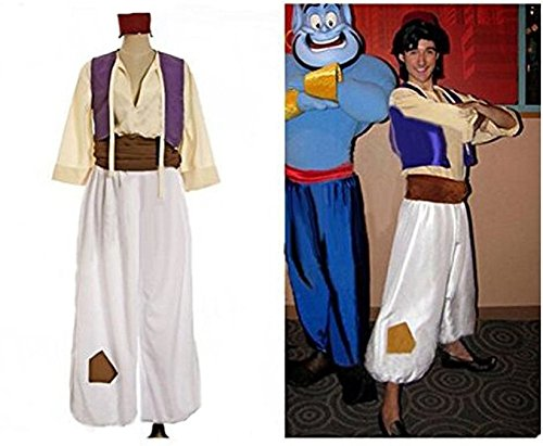 Horries Adult Aladdin Prince Costume Halloween Party Costume (Prince Aladdin Costume)