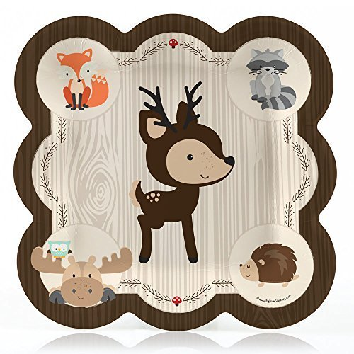 Creature Pack (Woodland Creature - Baby Shower or Birthday Dinner Plate (8 count))