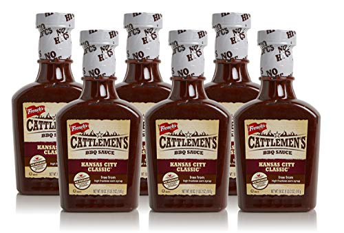 Cattlemen's Kansas City Classic BBQ Sauce, No High-Fructose Corn Syrup, Real Ingredients, 18oz (Pack of 6)