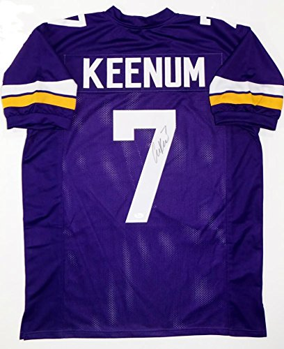 detailed look 8779d c7395 Case Keenum Autographed Purple Pro Style Jersey - JSA W Auth ...