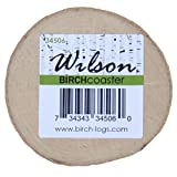 Birch Coaster, 0.5 inch thick x 3-5 inch diameter (set of 8) For Sale