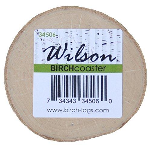 Birch Coaster, 0.5 inch thick x 3-5 inch diameter (set of 8)