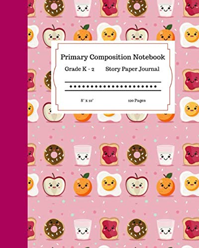 Hawaiian Themed Party Food (Primary Composition Notebook Grades K-2 Story Paper Journal 8