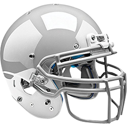 D II Adult Football Helmet (Faceguard Not Included), Matte Black, Large ()