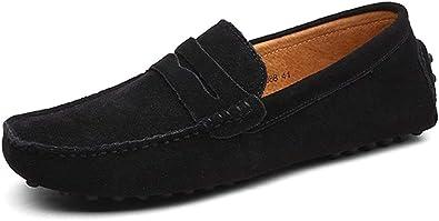 TALLA 44 EU Estrecho. DUORO Mocasines de Piel Zapatos para Hombre Casual Planos Loafer