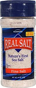 Redmond Real Salt, Nature's First Sea Salt, Fine Salt, 10 Ounce Shaker (1 Pack)