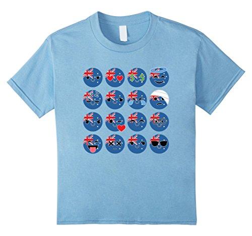 [Kids Australia Emoji Many Face Australian Shirt National T-Shirt 10 Baby Blue] (Oktoberfest Costumes Australia)