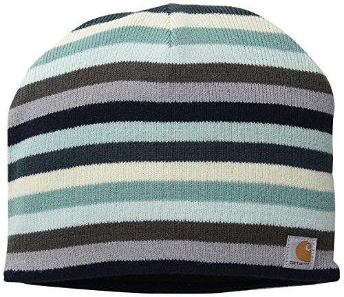 Carhartt Women's Striped Knit Hat, Deep Blue, One Size