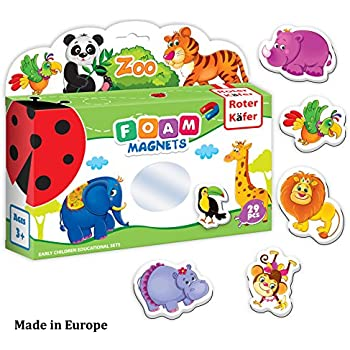 Refrigerator Magnets for kids ZOO WILD Animals (29 pcs) - Fridge Magnets for Toddlers activity - Kids magnets - Toddler Magnets for Refrigerator - Animal Magnets - Baby Magnets - Magnetic Animals Toys