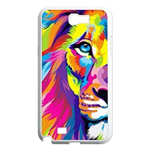 Lion Pattern Hard Plastic Back Phone Case For Samsung Galaxy Note 2 Case HSL419218