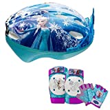 Disney Frozen Tiara Girls Skate / Bike Helmet, Pads & Gloves - 7 Piece Set