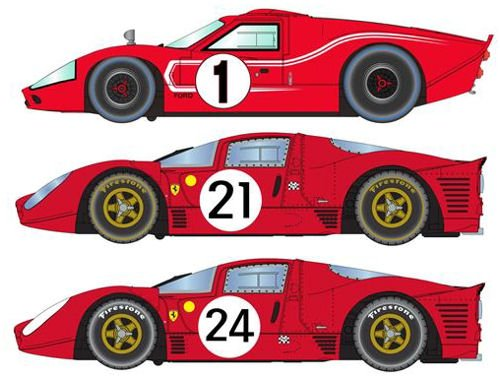 (Scalextric 1967 Lemans Triple Pack, Ford Mkiv & Ferrari 330 P4 #21 & #24 Toy)