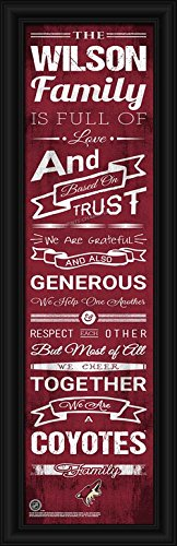 Laminated Visuals Phoenix Coyotes - Personalized Family Cheer - Framed Poster (Jobing Com Arena)