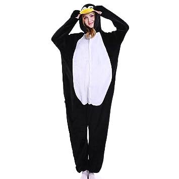 M&A Pijamas Pinguino Animales Franela Disfraz Cosplay Para Carnaval Halloween Navidad mujer hombre Ropa de dormir