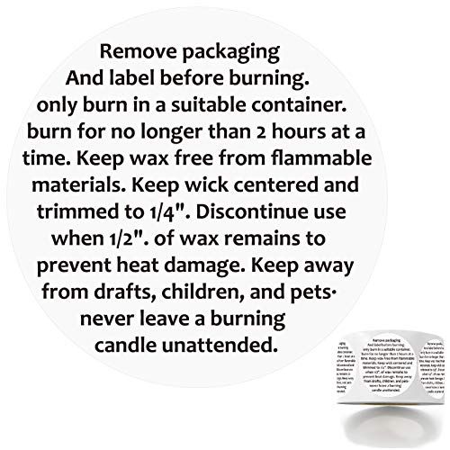 500 Candle Warning Stickers, Candle Jar Container Labels Wax Melting Safety Stickers Decal for Candle Jars, Tins and Votives, 1.5