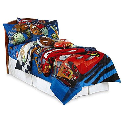 Disney Pixar Cars Twin (COMFORTER & SHAM ONLY) Kids Bedding