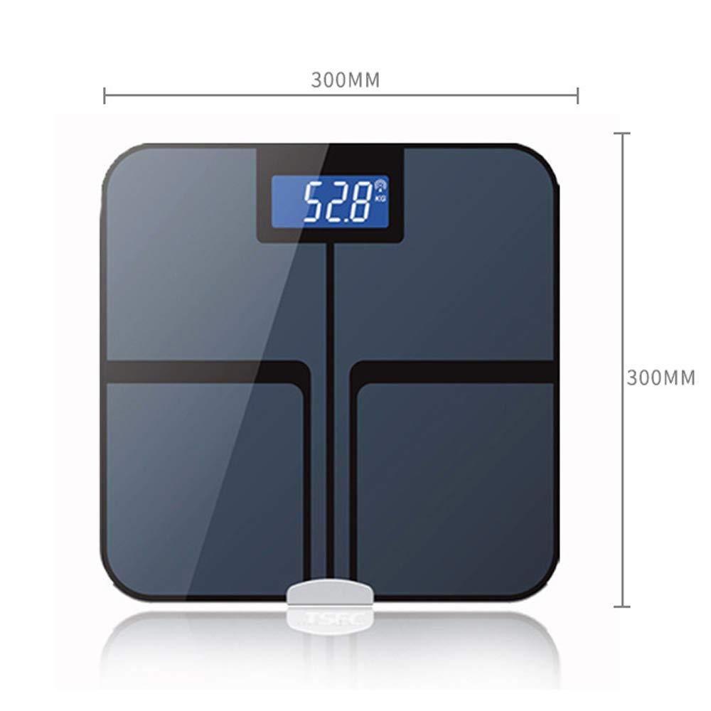 QMKJ Báscula de baño Inteligente balanza de precisión Cuerpo de Grasa Digital Peso del Cuerpo de baño Escalas de Cuerpo analizador de composición con ...