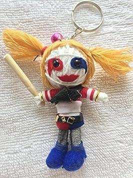 Suicide Squad Harley Quinn cadena llavero con muñeca: Amazon ...