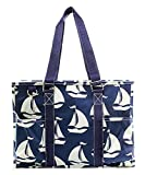 N Gil All Purpose Organizer Medium Utility Tote Bag (Sailboat Navy)