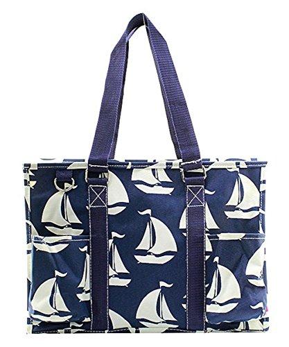 N Gil All Purpose Organizer Medium Utility Tote Bag (Sailboat Navy) by N.Gil