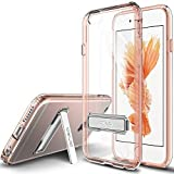 iPhone 6 Case, OBLIQ [Naked Shield][Rose Gold][Metal Kickstand] Slim Fit Crystal Clear Scratch Resist Heavy Duty Protection Dual Layer Case for Apple iPhone 6S (2015) & iPhone 6 (2014)