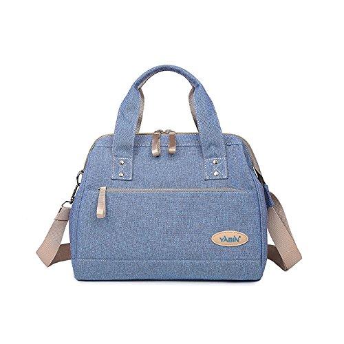 Protección del medio ambiente Bolso de la momia, paquete de la madre de múltiples funciones, bebé de gran capacidad del hombro fuera de la bolsa ( Color : Azul zafiro ) Azul