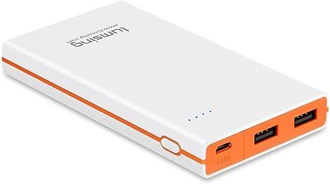 Lumsing Ultrathin Portable 2 Port Usb Charger 8000mah Amazon Co Uk Electronics
