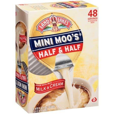 1-Land O Lakes Mini Moo`s Half & Half 48-Single Serve Dairy Creamers by Land O Lakes