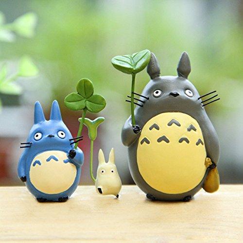 [3PCS/LOTS Totoro Leaf Anime Cartoon Mini Minion Action Figure Model Kids Toys Christmas Gifts by] (Totoro Diy Costume)
