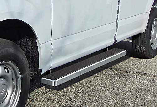 APS iBoard Running Boards (Nerf Bars | Side Steps | Step Bars) for 2015-2019 Ford F150 Regular Cab Pickup 2-Door / 2017-2019 Ford F-250/F-350 Super Duty | (Silver 6 inches)