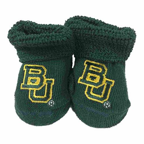 "UPC 889360286749, Baylor Bears Two Feet Ahead Infant Baby Newborn Green ""BU"" Logo Socks Booties"