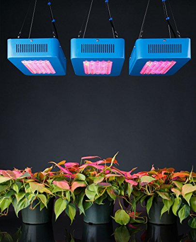 51h%2BhNNTFAL - Sandalwood LED Grow Light for Hydroponic Garden and Greenhouse Use Dual Grow Bloom Spectrum
