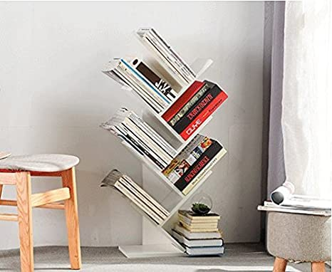 7-Story Tree Bookshelf, Unique Design, can be Used in Every Living Room,  Study, Bedroom, Office, There is a Large Space to Place Books, documents,  ...