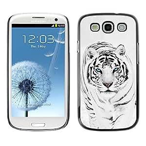 TECHCASE**Cubierta de la caja de protección la piel dura para el ** Samsung Galaxy S3 I9300 ** Tiger Snow Leopard Winter Black White Fur Animal