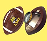 NCAA LSU Tigers Football Bottle Opener Magnet, 3-Inch, Brown