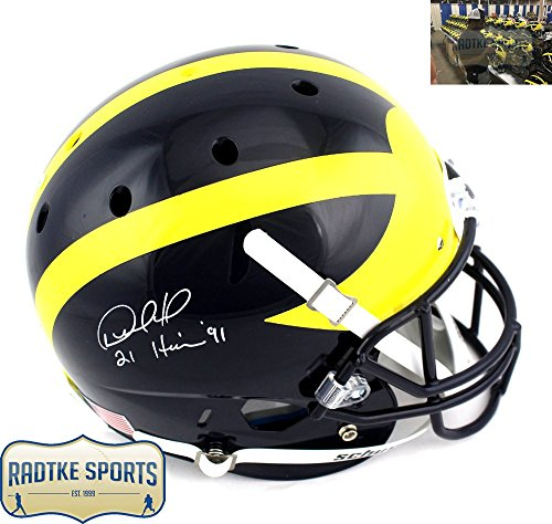 Desmond Howard Autographed Signed Michigan Wolverines Full Size NCAA Helmet  with