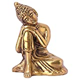 Best Idol For Home Decors - DreamKraft Antique Color Metal Resting Buddha Idols For Review