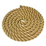 SGT KNOTS ProManila Rope (1.25 inch) UnManila Tan Twisted 3 Strand Polypropylene Cord - Moisture, UV, and Chemical Resistant - Marine, DIY Projects, Crafts, Commercial, Indoor/Outdoor (50 ft)