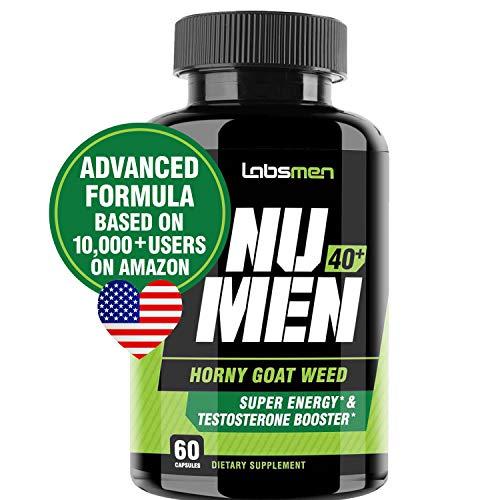 LabsMen 2-in-1 Horny Goat Weed Extract with Epimedium (13mg Icariin), Maca, Tribulus Terrestris, L Arginine & Ginseng – Testosterone Booster for Men | Enhance Stamina, Performance & Libido | 60 Potent