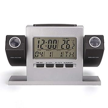 WMC Dual proyector Despertador, Tabla Creativa del Reloj ...