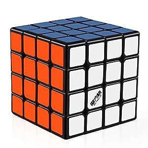 D-FantiX Qiyi Wuque 4x4 Speed Cube Magic Cube 4x4x4 Puzzle Black 62mm