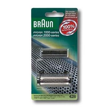 Braun - 65428781 - Combi-pack 428 - Recharge grille + couteaux pour rasoirs Micron 1000 / 2000: Amazon.fr: HygiÚne et Soins du corps