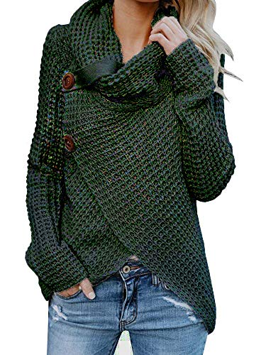(Inorin Womens Swearers Oversized Fall Pullover Cowl Neck Chunky Knit Wrap Sweater Jumper)