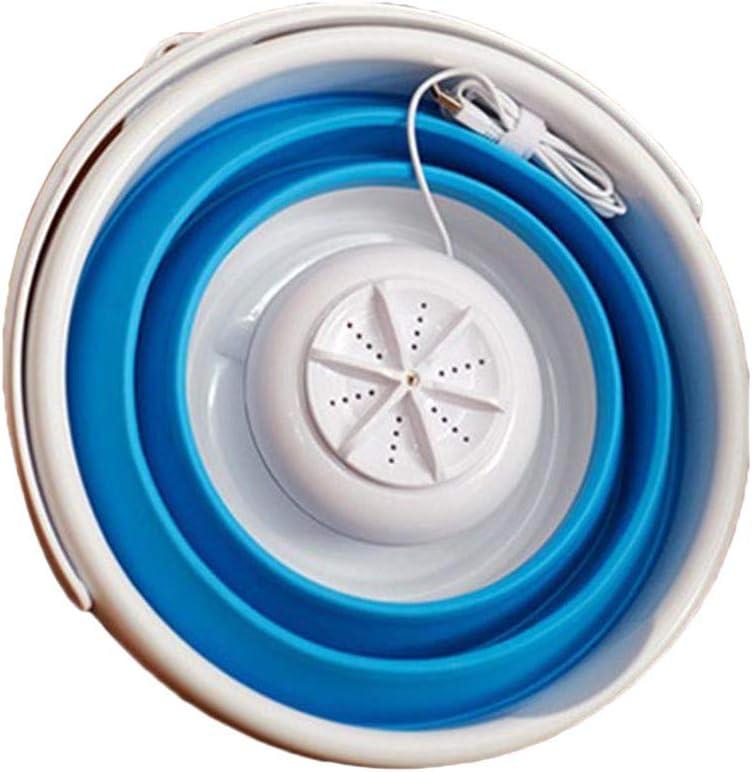 TOOGOO Mini Lavadora De Turbina Ultrasónica Portátil Tipo De Cubeta Plegable USB Lavandería Lavadora Limpiador para Viajes En Casa