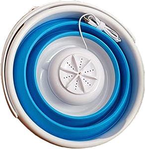 Vaorwne Portable Ultrasonic Turbine Washing Machine Foldable Bucket Type USB Laundry Clothes Washer Cleaner For Home Travel